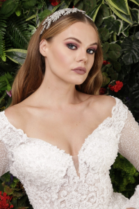 Pırıltı Taş İşlemeli Prenses Model Gelinlik