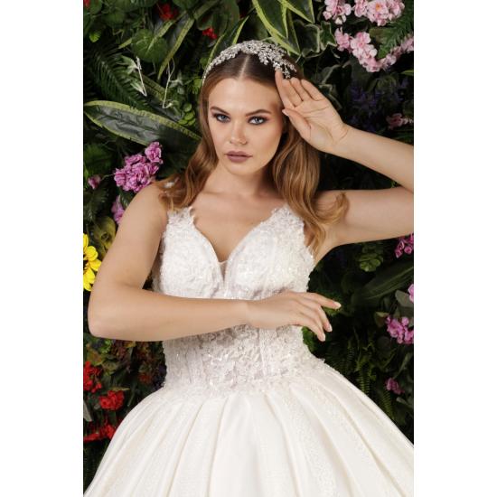 Kristal İşlemeli Prenses Model Gelinlik