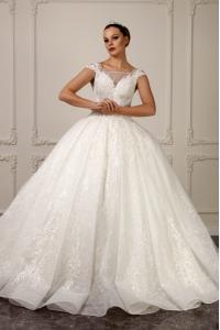 İnci Kristal İşlemeli Prenses Model Gelinlik