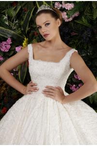 Güpür Detaylı Prenses Model Gelinlik